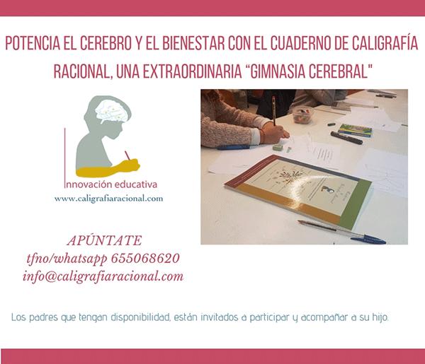 Cuaderno caligrafía racional, técnicas de estudio en Gijón